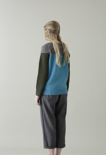mix panel knit pullover