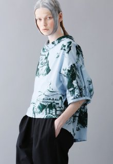 chateau print pullover