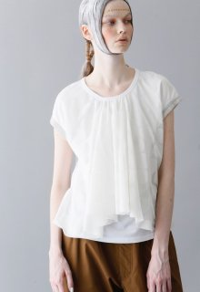 air dot tulle pullover