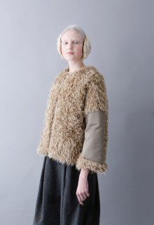 nylon twill + vintage fur blouson