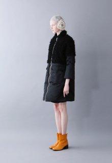 nylon twill + vintage fur coat