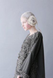 top gun urake + vintage fur pullover