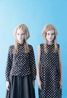 ripple dot blouse