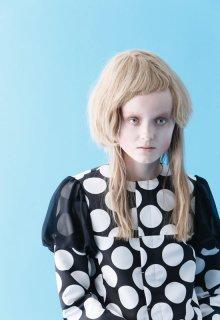 dot cloth blouse