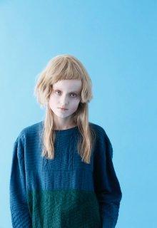 multi pattern knit pullover