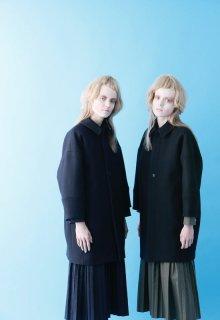 double woven melton coat