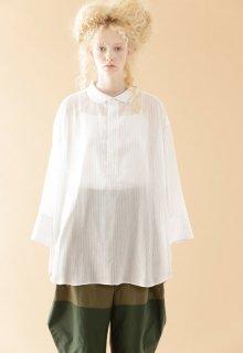 cotton tencel voile blouse