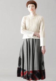 rhombus tweed skirt