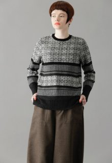 snowflake knit pull-over