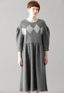 rhombus double face one-piece