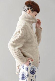 furrow knit cardigan