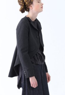 wool linen stripe jacket