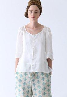 ramie lyocell blouse
