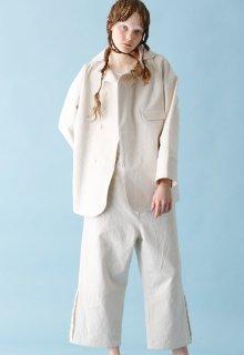 < pre-order > cotton linen canvas jacket