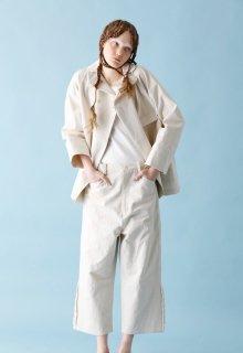 < pre-order > cotton linen canvas pants