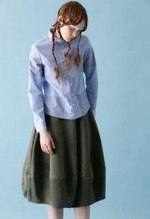 < pre-order > liquid satin combination skirt