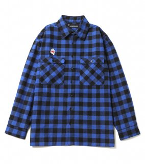 GHOST CHECK SHIRTS (BL)
