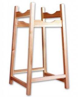 木製両用巻藁台(組み立て式 高低二段)
