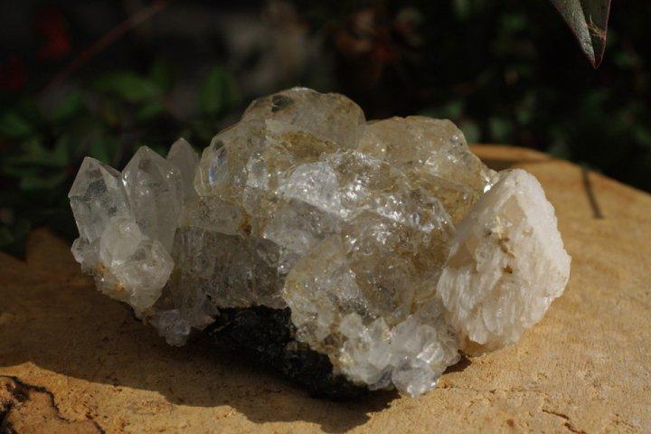 フローライト&水晶&カルサイト原石011の画像