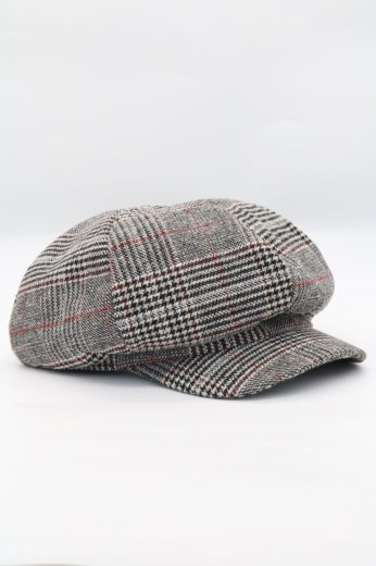 <img class='new_mark_img1' src='https://img.shop-pro.jp/img/new/icons57.gif' style='border:none;display:inline;margin:0px;padding:0px;width:auto;' />check pattern wool casquette