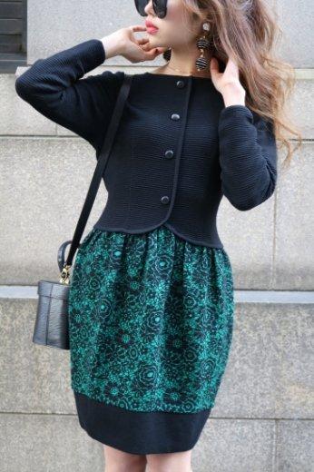 【vintage】Christian Dior / prêt-à-porter rib knit dress