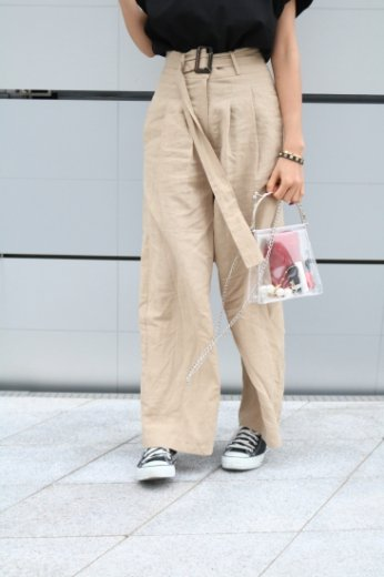 <img class='new_mark_img1' src='https://img.shop-pro.jp/img/new/icons20.gif' style='border:none;display:inline;margin:0px;padding:0px;width:auto;' />linen wide pants(belt set)