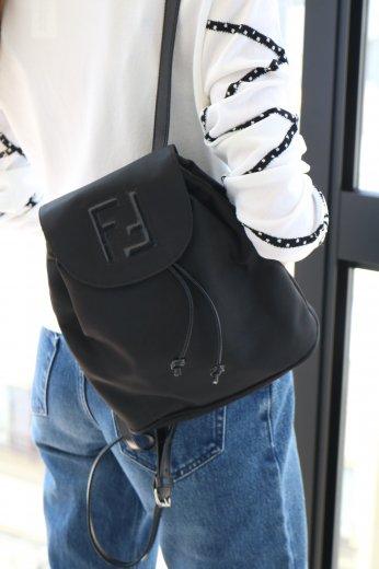 【vintage 】FENDI / logo nylon mini backpack