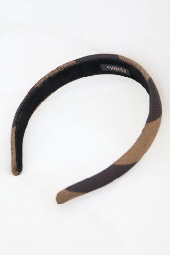 【vintage】FENDI / pecan pattern hair accessory