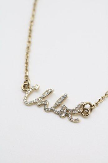 【vintage】Chloé / logo rhinestone necklace