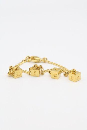 【vintage】Christian Dior / dice motif Dior logo bracelet