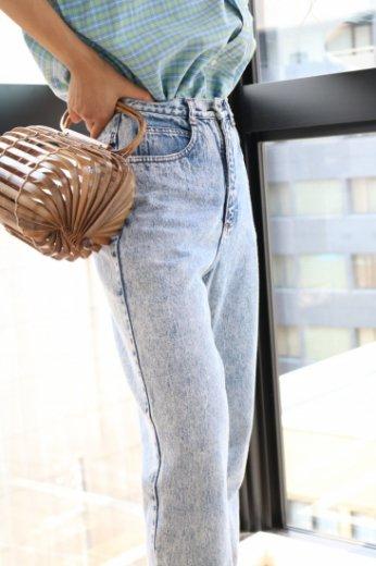 【vintage】US 80's high waist chemical wash denim pants
