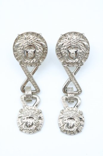 【vintage】VERSACE / medusa motif swing  silver earrings