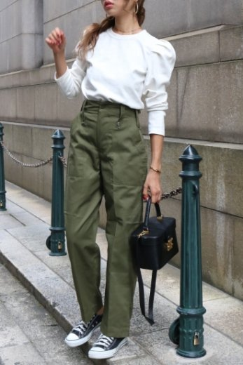 【vintage】US high waist military pants