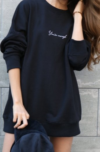 original embroidery design sweatshirt / black