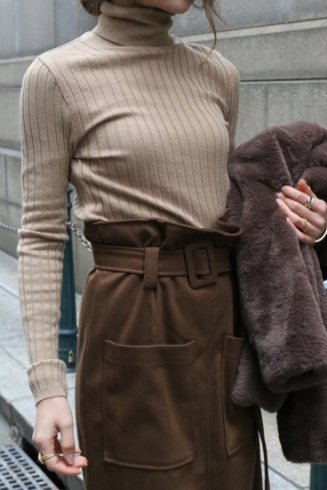 <img class='new_mark_img1' src='https://img.shop-pro.jp/img/new/icons57.gif' style='border:none;display:inline;margin:0px;padding:0px;width:auto;' />turtle neck rib knit tops / mocha