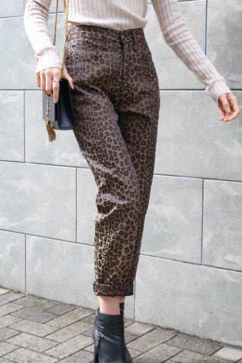 【vintage】FENDI / logo leopard straight pants