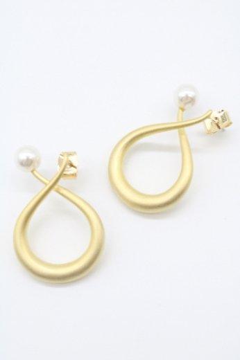 pearl arch pierced earrings