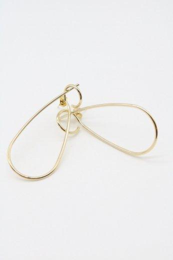 tear drop thin pierced earrings