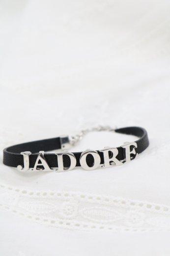 【vintage】Christian Dior / 'JADORE' leather bracelet