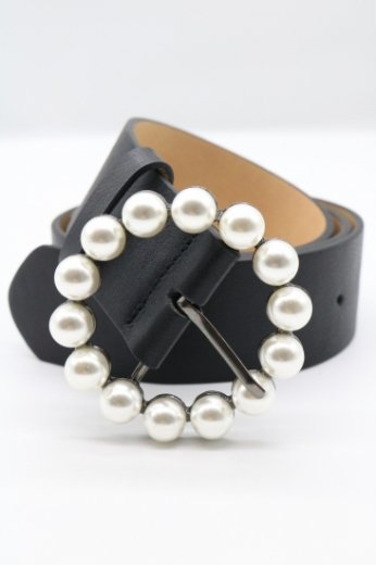 pearl round buckle shrink processing belt