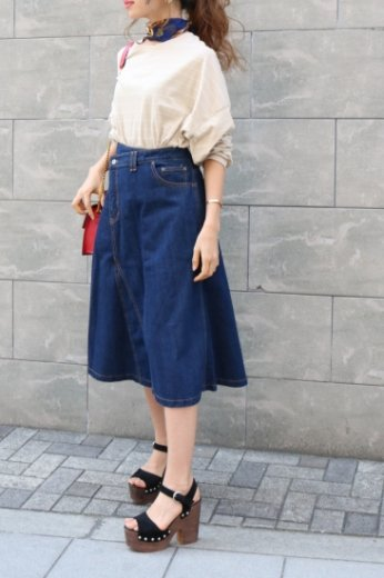 <img class='new_mark_img1' src='https://img.shop-pro.jp/img/new/icons20.gif' style='border:none;display:inline;margin:0px;padding:0px;width:auto;' />yellow stitch wrap like denim skirt