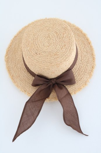 <img class='new_mark_img1' src='https://img.shop-pro.jp/img/new/icons20.gif' style='border:none;display:inline;margin:0px;padding:0px;width:auto;' />raffia ribbon hat / brown