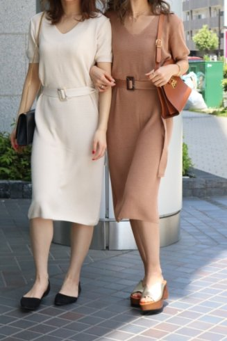 <img class='new_mark_img1' src='https://img.shop-pro.jp/img/new/icons20.gif' style='border:none;display:inline;margin:0px;padding:0px;width:auto;' />basic summer knit dress (belt set) / brown