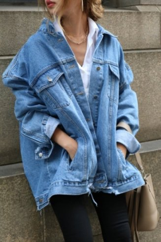 big silhouette crash denim jacket