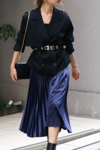 【vintage】Christian Dior / corduroy short trench jacket / black