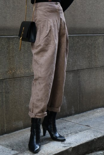 【vintage】KENZO / high waist front tuck tapered pants