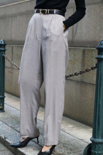 【vintage】Christian Dior / haund tooth check pattern slacks pants / light gray