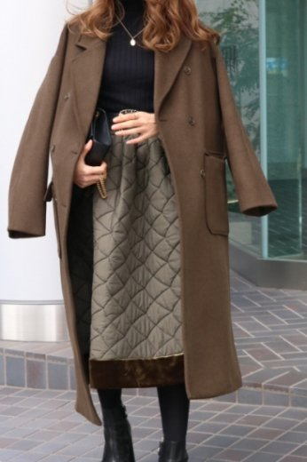 <img class='new_mark_img1' src='https://img.shop-pro.jp/img/new/icons57.gif' style='border:none;display:inline;margin:0px;padding:0px;width:auto;' />notched lapel collar out pocket wool coat / khaki