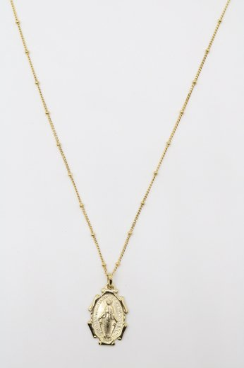 maria medal necklace