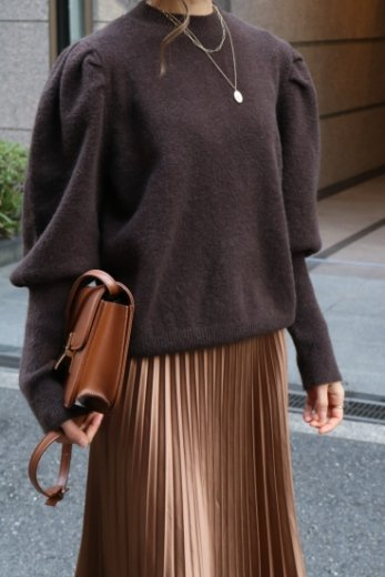 elephant sleeves knit tops / brown